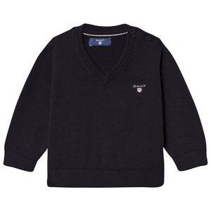 Gant Boys Jumpers and knitwear Navy Navy Cotton V Neck Jumper