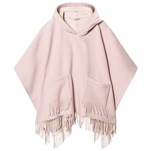 Il Gufo Girls Coats and jackets Pink Pink Brushed Wool Fringe Cape