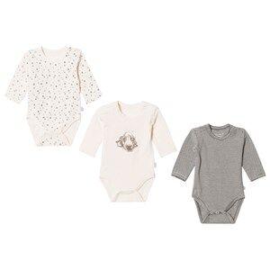 Hust&Claire; Unisex All in ones Cream 3-Pack Baby Bodies Cream