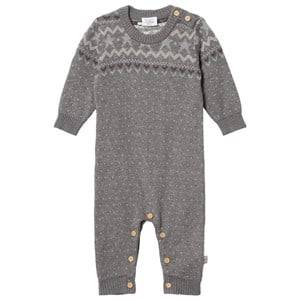 Hust&Claire; Unisex All in ones Grey Ribbed One-Piece Grey Blend
