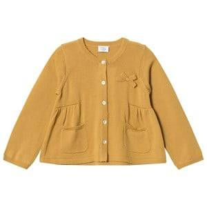 Image of Hust&Claire; Girls Jumpers and knitwear Brown Knit Cardigan Curry