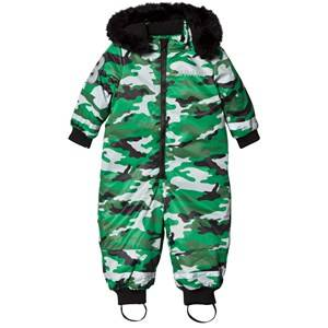 The BRAND Unisex Private Label Coveralls Green Coverall Light Camo With Black Fur