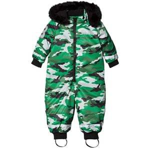 Image of The BRAND Unisex Private Label Coveralls Green Coverall Light Camo With Black Fur