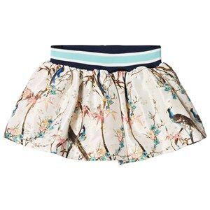 No Added Sugar Girls Skirts Cream Peacock Printed Skirt