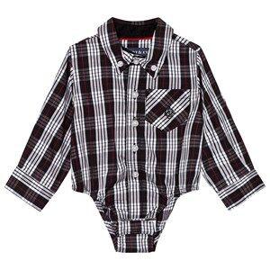 Andy & Evan Boys Tops Navy Black/White Holiday Shirtzie