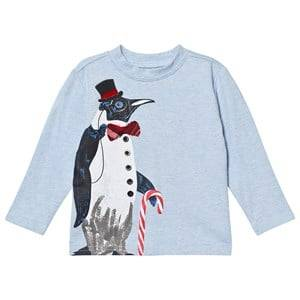 Andy & Evan Boys Tops White Holiday Penguin Tee