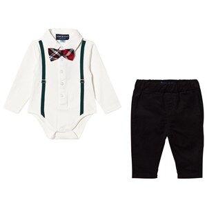 Andy & Evan Boys Clothing sets White Holiday Polo Shirtzie Set