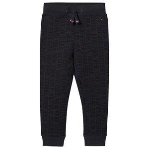Tommy Hilfiger Boys Bottoms Navy Navy All Over Branded Sweatpants
