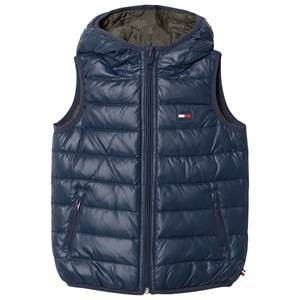 Tommy Hilfiger Boys Coats and jackets Blue Blue Reversible into Khaki Down Gilet
