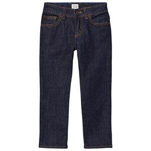 Giorgio Armani Junior Boys Bottoms Navy Indigo Raw Denim Regular Fit Jeans