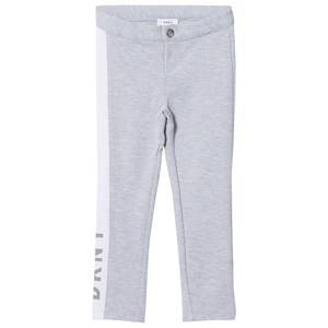 DKNY Girls Bottoms Grey Grey Jersey Branded Slim Sweat Pants