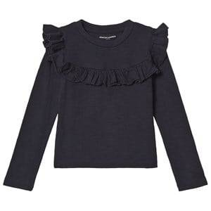 Kiss How To Kiss A Frog Girls Tops Navy Frill Tee Navy