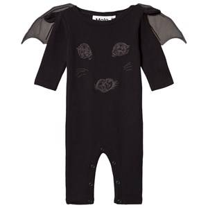 Image of Molo Unisex All in ones Black Frillo Long Sleeve Onesie Black