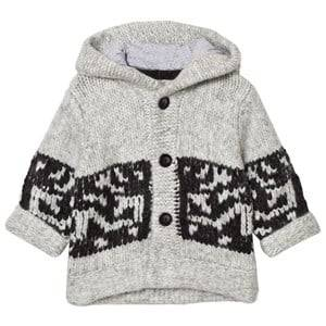 The Little Tailor Boys Jumpers and knitwear Grey Grey Chunky Knit Hoodie Cardigan