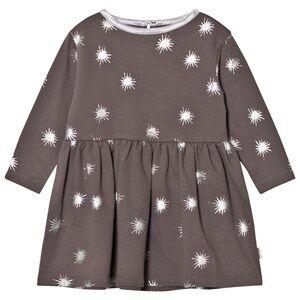 The Little Tailor Girls Dresses Grey Dark Grey Baby Jersey Dress