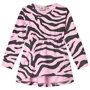 Nova Star Girls Dresses Grey Dress Zebra Pink