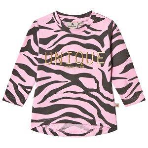 Nova Star Unisex Tops Pink Zebra Long Sleeve Top