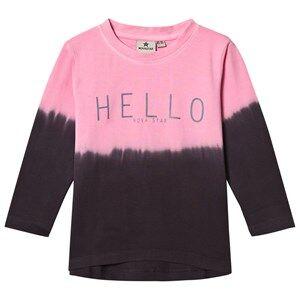 Nova Star Unisex Tops Pink Hello Long Sleeve Top