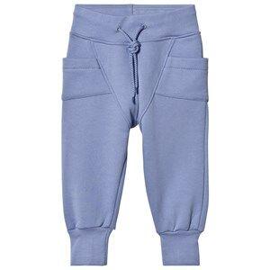 Gugguu Unisex Bottoms Blue College Baggy Pants Ice Blue