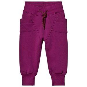 Gugguu Unisex Bottoms Purple College Baggy Pants Grape Juice