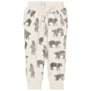 The Little Tailor Boys Bottoms Cream Cream Bear Baby Sweatpants