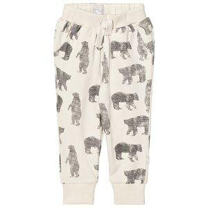 The Little Tailor Boys Bottoms Cream Cream Bear Baby Sweatpants