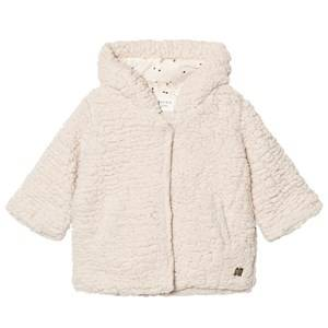 Carrément Beau Girls Coats and jackets Cream Cream Teddy Fleece Hooded Jacket