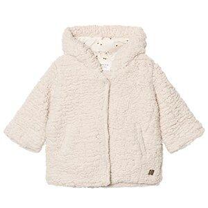 Carrément Beau Girls Coats and jackets Cream Cream Teddy Fleece Hooded Jacket