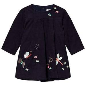 Image of Catimini Girls Dresses Navy Navy Butterfly Embroidered Micro Cord Dress