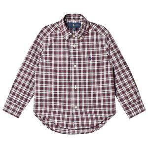 Ralph Lauren Boys Tops Red Red Multi Long Sleeve Shirt