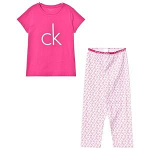 Calvin Klein Girls Nightwear Pink Pink Branded Pyjamas