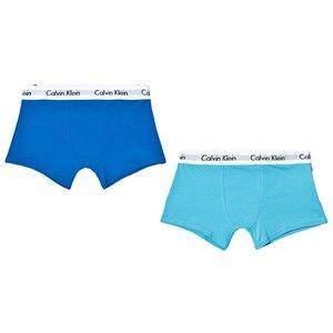 Calvin Klein Boys Underwear Blue 2-Pack Blue Trunks