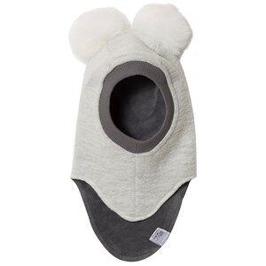 Huttelihut Unisex Headwear White Elefanthut Balaclava with Faux Fur White