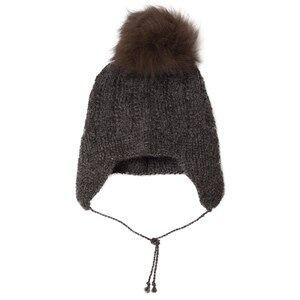 Huttelihut Unisex Headwear D.grey Babyhut Pattern Hat Dark Grey