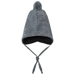 Geggamoja Unisex Headwear Grey Knitted Helmet Hat Light Grey
