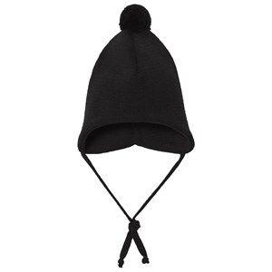 Geggamoja Boys Headwear Black Knitted Helmet Hat Black