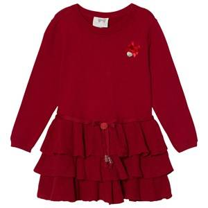 Le Chic Girls Dresses Red Red Knit Ruffle Dress