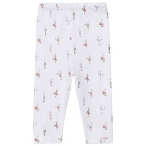 Livly Girls Bottoms White Leggings Ballerina Bunny