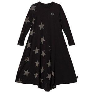 NUNUNU Girls Dresses Black Maxi Star 360 Dress Black