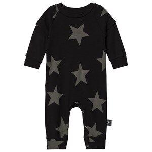NUNUNU Unisex All in ones Black Star Playsuit Black