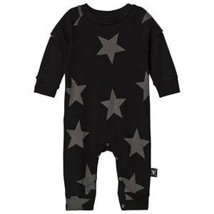 Image of NUNUNU Unisex All in ones Black Star Playsuit Black