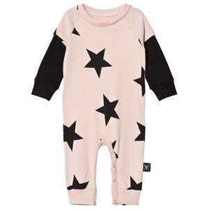Image of NUNUNU Unisex All in ones Pink Star Playsuit Powder Pink