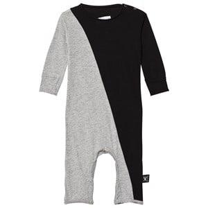 Image of NUNUNU Unisex All in ones Black Half & Half Playsuit Black/Heather Grey