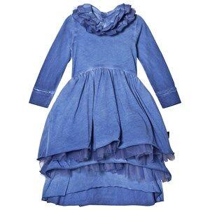 Image of NUNUNU Girls Dresses Blue Victorian Dress Dirty Blue