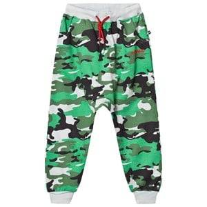 Image of The BRAND Boys Private Label Bottoms Green Sweatpants Light Camo