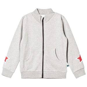 The BRAND Boys Private Label Jumpers and knitwear Grey Star Zip Sweater Grey