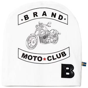 The BRAND Unisex Private Label Headwear Red Moto Print Hat White