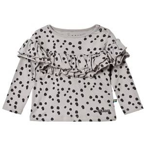 The BRAND Girls Private Label Tops Grey Sleeve Wave Top Grey Dot
