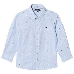 Tommy Hilfiger Boys Tops Blue Blue Branded Dobby Shirt