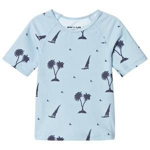 Mini A Ture Unisex Swimwear and coverups Blue Gun UV T-Shirt K Blue Fog